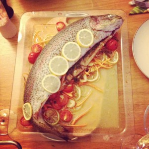Braised Salmon Trout